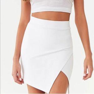 White Asymmetrical Mini Skirt Size Small
